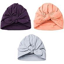 4def445c2e7 YiZYiF Lot de 3 Bébé Bonnets Nouveau né Coton Crochet Papillons Chapeau  Unisexe Bébé Garçon Fille