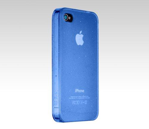 ICU Shield Schutzhülle für iPhone 4 transparent Sparkling blau Sparkling Shield