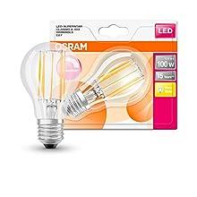 OSRAM Goccia Lampadina LED, 12 W Equivalenti 100 W, Attacco E27, Luce Calda 2700K, Confezione da 1 Pezzo