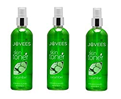 Jovees Cucumber Skin Toner/Astringent - 200ml (Pack of 3)