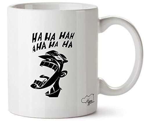 Hippowarehouse Joker Illustration taza impresa taza de cerámica 10 oz