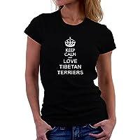Maglietta da donna Keep calm and love Tibetan Terrier