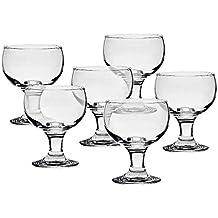 6 x Eiscremeglas, Eisbecher, Eisschale ~PALM~ transparent, 350ml, Glas (GELATO VERO powered by CRISTALICA)