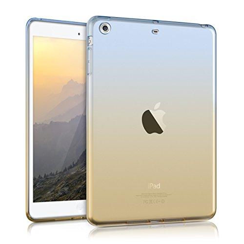 kwmobile Hülle für Apple iPad Mini 2 Retina / Mini 3 - Case Handy Schutzhülle TPU Silikon für Tablet - Backcover Cover klar Blau Gelb Transparent Apple Ipad 2 Silikon