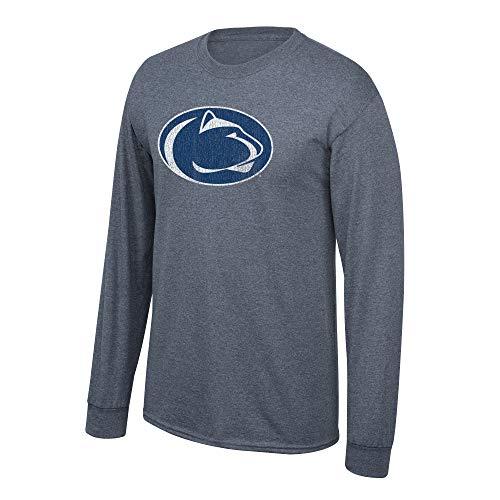 Elite Fan Shop NCAA Men's Penn State Nittany Lions Long Sleeve T Shirt Charcoal Vintage Penn State Nittany Lions Charcoal XX Large - Penn Longsleeve