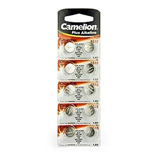 10 camelion ag10 lr54 189 389 lr1130 pile bouton. Black Bedroom Furniture Sets. Home Design Ideas