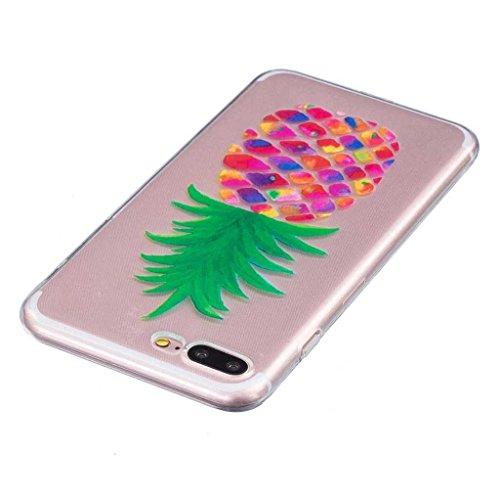 iPhone 7 Hülle [mit Frei Panzerglas Displayschutzfolie], BoxTii® iPhone 7 Schutzhülle Transparent Silikon TPU Bumper Case, Anti-Scratch UltraSlim Weiche Rückdeckel für Apple iPhone 7 (#15 Blume) #18 Grün