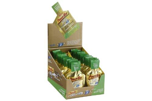 PowerBar - PowerGel Box 24 Stück Green Apple - Gainer Bars Weight Protein