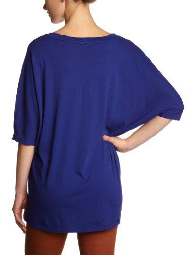 Bobi Damen T-Shirt 525-08022, V-Ausschnitt Blau (Ultramarine)