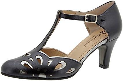 Calzado mujer confort de piel Piesanto 6278 salón fiesta zapato cómodo ancho