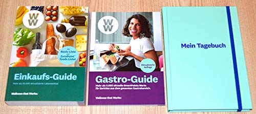 Charmate® Beauty Set //Gesichtspflege//Weight Watchers - Wellness that Works/Healthy Kitchen WW Einkaufs-Guide + Gastro-Guide + Mein Tagebuch Mint Blau - FitPoints® / SmartPoints® Plan / 2019
