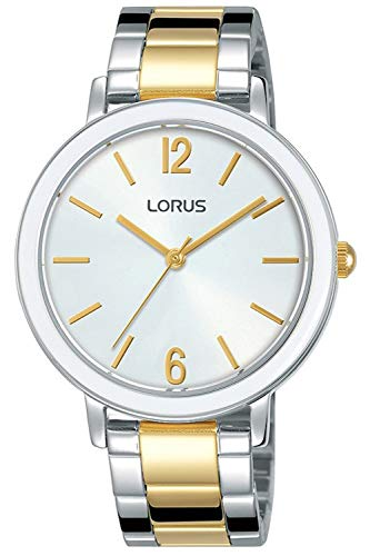 Lorus ladies orologio Donna Analogico al Al quarzo con cinturino in Acciaio INOX RG281NX9