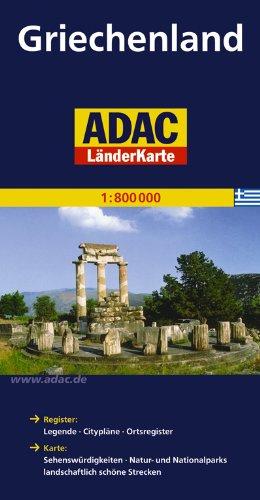ADAC LänderKarte Griechenland 1:800 000 (ADAC Länderkarten)
