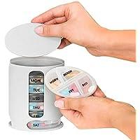 Medikamentendosierer, ANGTUO Pill Box Organizer 7 Tage pro Woche Pillendosen Tissue mit 4 Fächern Mini Convenience... preisvergleich bei billige-tabletten.eu