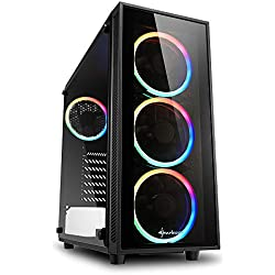 Sharkoon TG4 RGB - Caja de Ordenador, PC Gaming, Semitorre ATX, Negro