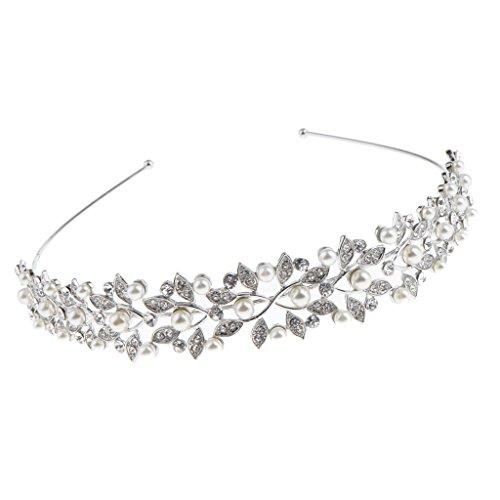 Sharplace Priness Crystal Hochzeit Haar Band Zubehör Haarreif Kristall Hochzeit Stirnband Krone Diadem Braut Tiara Accessoires Haarschmuck