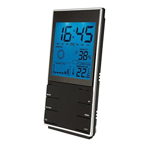 Clip Sonic Technology SL204 - Estación meteorológica con higrómetro, Color Negro