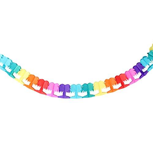 staltungen Beach Party Garlands Rainbow Dekoration Palm Tree ()