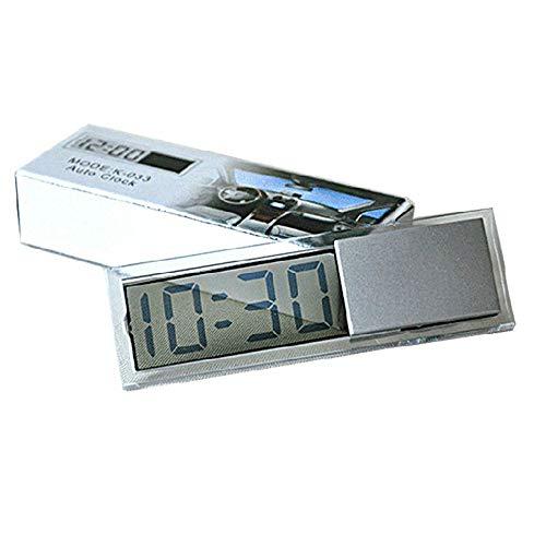 Fliyeong Tragbare Mini-Auto-elektronische Digitaluhr mit transparenter LCD-Anzeige mit Saugnapf-Auto-Zeitanzeige 1 Stücke