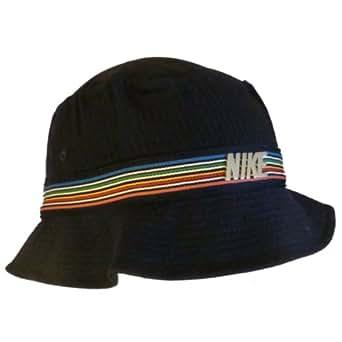Nike Bucket Hat, Blue, Rainbow Stripe-Unisex - Mens/Women (S/M - 54-57 cm)