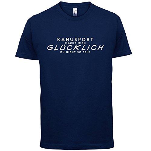 Kanusport macht mich glücklich - Herren T-Shirt - 13 Farben Navy