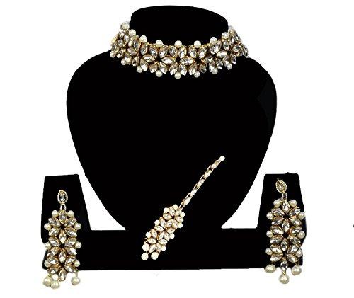 ERA jewellers Golden Pearl Choker Set for Women