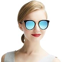 Dada-Pro Vintage Polarisierte Damen Sonnenbrille - Fahrer Brille 100% UV400 Schutz für Autofahren Reisen Golf Party und Freizeit MhJltMm4