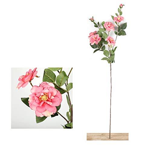 JJETEB 7 Köpfe Künstliche Rose Zweig Hochzeitsdekoration Blumen Home Office Silk Gefälschte Rose Für Muttertagsgeschenk,Pink (Pink Silk Rosen)