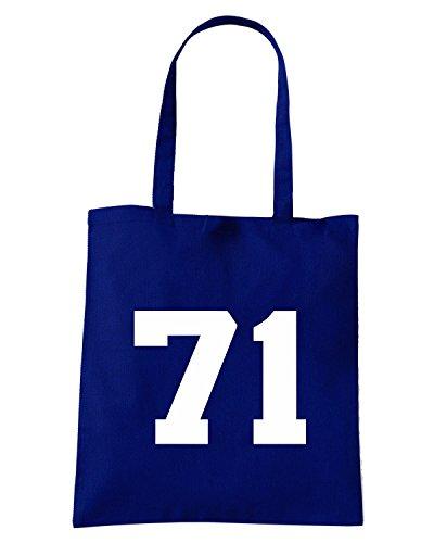 T-Shirtshock - Borsa Shopping TUM0205 lulic 71 coppa in faccia Blu Navy