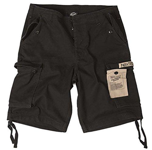 Mil-Tec Bermuda Short Paratrooper washed schwarz Gr.M - Cargo Damen Shorts