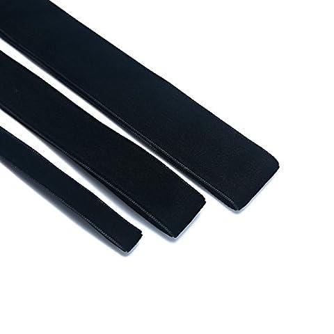 Spécial Ruban en velours, doux et luxueux pour mariage élégant de qualité plus standard, français en velours Ruban, ruban. Idéal de Prix. 9couleurs Options. 10mm, 19mm, 25mm., noir, 1 meter - 25mm