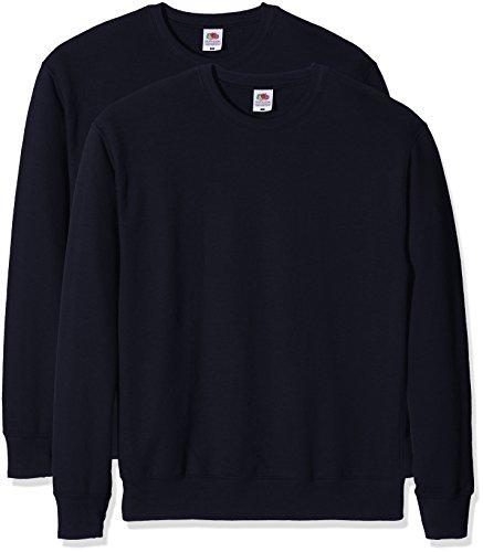Fruit of the Loom Herren Sweatshirt Lightweight Sweat Blau (Dark Navy)