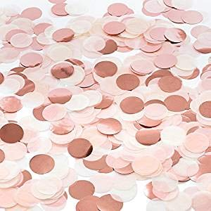 iZoeL Konfetti Rosegold Punkte Dot Streu Tisch Deko für Geburtstag Hochzeit Party Dekoration (Tisch Dekoration Geburtstag)