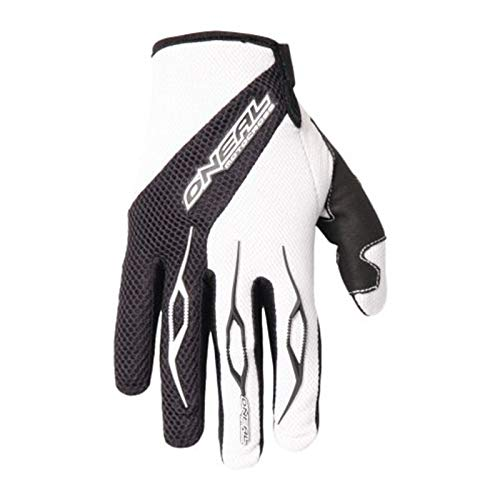 O'Neal Element Glove Handschuhe Schwarz Weiß Moto cross Enduro Downhill Mountain Bike MTB DH, 0398-20, Größe Medium