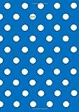 Notizbuch A4 kariert Pünktchen Dot Punkt Ocean Blue (blau) mit weißen Punkten