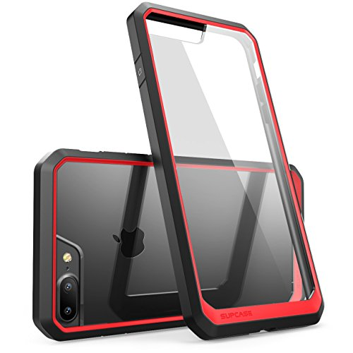 iPhone 8 Plus Hülle, SUPCASE [Unicorn Beetle] Schutzhülle Premium Case Hybride Transparent Handyhülle (Kompatibel mit Apple iPhone 7 Plus / iPhone 8 Plus) (Frost/Schwarz) Rot/Schwarz