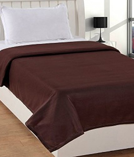 Warmland Polar Fleece Single Blanket - Coffee