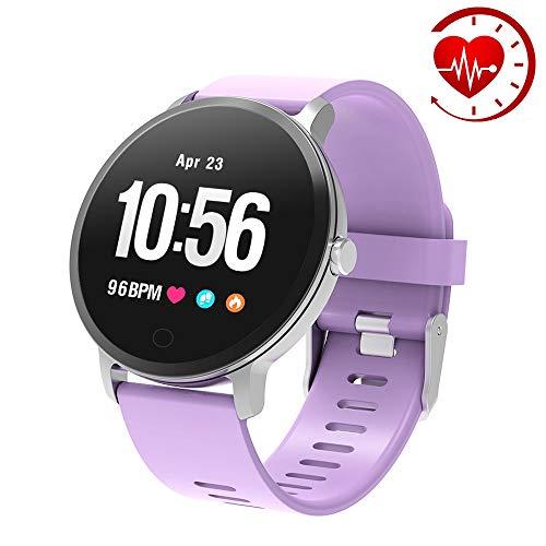 YoYoFit Fitness Tracker, IP67 Wasserdicht mit GPS Schrittzähler Uhr Herzfrequenz mit Pulsmesser Blutsauerstoff Armband Wetter Musik Steuerung Stoppuhr für Damen Herren