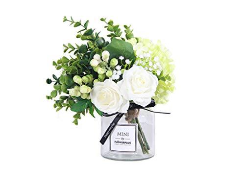 ADLFJGL Kunstblumen Im Topf,Kleine Frische Seidenblume Braut Hochzeitsstrauß Wohnzimmer Dekoration Künstliche Blume Tischdekoration Gefälschte Blume Geburtstag Party Blume