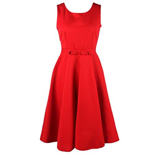 MNBS - Robe - Trapèze - Sans Manche - Femme red