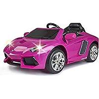 FEBER - Lamborghini Avventatore Auto Elettrico Sportivo per Bambini a Partire dai 3 Anni, 6 V, Colore Rosa (Famosa 800012394)