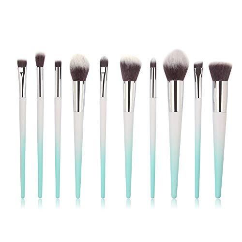 Make-up Pinsel Set,Make-up Pinsel, Make brush, 10 STÜCKE Make Up Foundation Augenbraue Eyeliner Erröten Kosmetik Concealer Pinsel Silber, Gold, Himmelblau (Himmelblau)