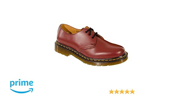 24b195e25944c Mens Airwair Dr Martens Cherry Red Leather Classic 3 Eye DM Shoes 1461Z  (8)  Amazon.co.uk  Shoes   Bags