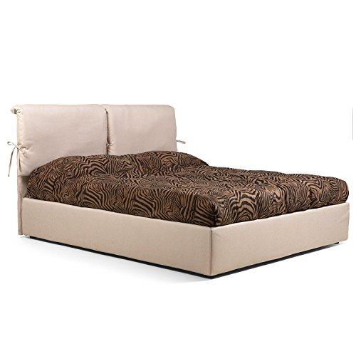 Goldflex letto imbottito contenitore mod juanita compreso di rete ortopedica piazza e mezza - Pistoni sollevamento letto ...