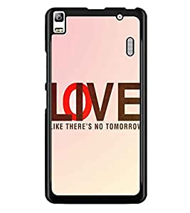 PrintDhaba Quote D-3919 Back Case Cover for LENOVO A7000 PLUS (Multi-Coloured)
