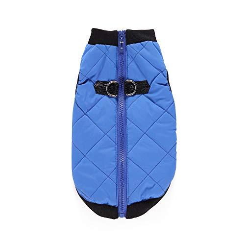 ZCY Haustier-Kostüm Hund Weste, Klein Mittel Hund Wolle Sweatshirt Bomber Jacke Mantel Mit Winter Warm Haustierkleidung (Farbe : Blau, größe : ()