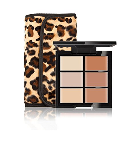 FantasyDay® 6 Farben Creme Concealer Make-up Palette Foundation Contouring Abdeckcreme Camouflage Palette Highlighting Cover Abdeck Makeup + 12 Stück Make-up Pinsel Set #2