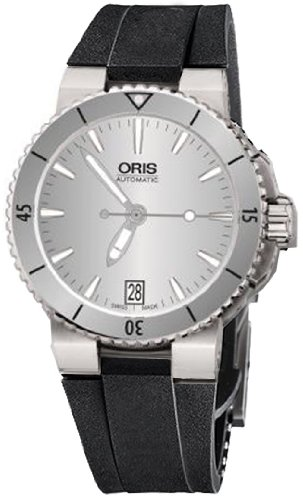 Oris Aquis Date 733 7652 4141 RS - Reloj de pulsera para mujer