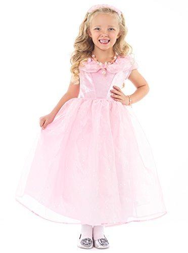 luxe Rosa Schmetterling Prinzessin verkleiden Kostüm für Mädchen - Groß (5-7 Jahre) (Deluxe Kind Große Kostüme)