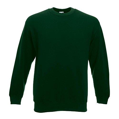 Fruit of the Loom - Sweatshirt 'Set-In' XL,Bottle Green (Streetwear Herren Bekleidung)